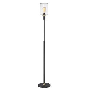 Luken Black Antique Brass 63-Inch One-Light Floor Lamp