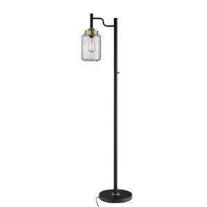 Luken Black One-Light Floor Lamp