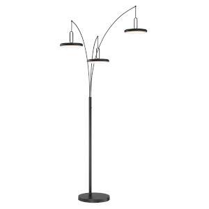 Sailee Black 90-Inch Three-Light LED Arch Lamp