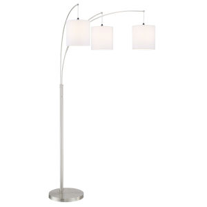 Norlan White 93-Inch Three-Light Arch Lamp