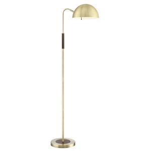 Clouseau Antique Brass 55-Inch One-Light Floor Lamp
