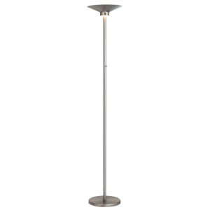 Sappho Brushed Nickel 72-Inch LED Torchiere Floor Lamp