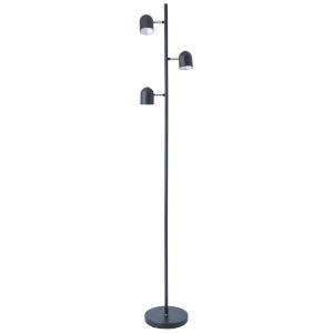 Tiara Black Three-Light LED Floor Lamp