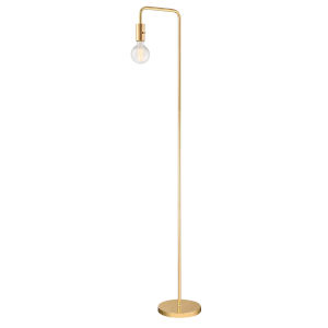 Nilmani White And Gold 62-Inch One-Light Floor Lamp