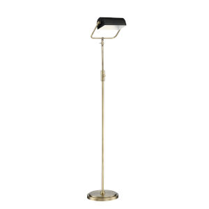 Caileb Antique Brass 55-Inch One-Light LED Floor Lamp
