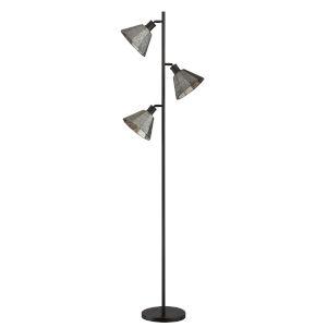 Busson Dark Brown Three-Light Floor Lamp