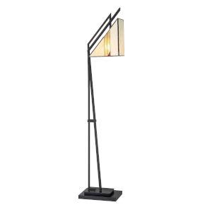 Verda Black One-Light Floor Lamp