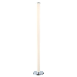 Quilla Chrome Frost Acrylic LED Floor Lamp