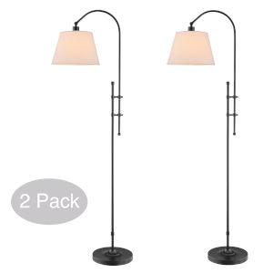 Duane Dark Bronze Two-Light Floor Lamp
