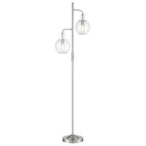 Kaira Brushed Nickel Two-Light Floor Lamp