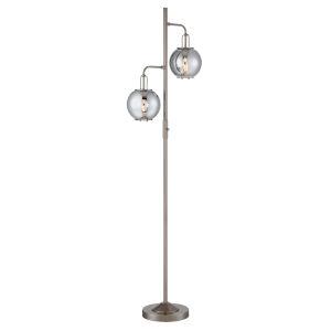 Kaira Gun Metal Two-Light Floor Lamp