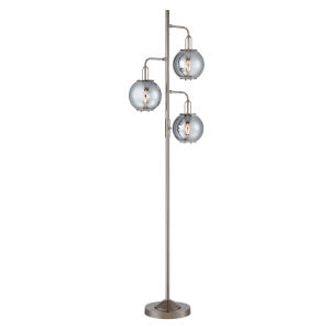 Kaira Gun Metal Three-Light Floor Lamp