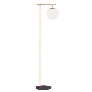 Lencho Gold Frost Glass One-Light Floor Lamp