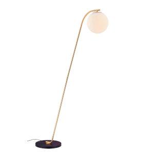 Roden Gold Frost Glass One-Light Floor Lamp