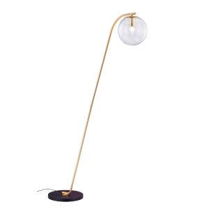Roden Gold Smoke Glass One-Light Floor Lamp