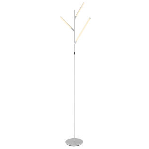 Lorant Silver 75-Inch Three-Light LED Floor Lamp
