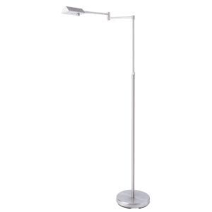 Pharma Brushed Nickel LED Floor Lamp