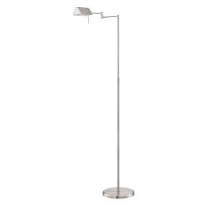 Pharma Polished Steel 58-Inch One-Light Floor Lamp