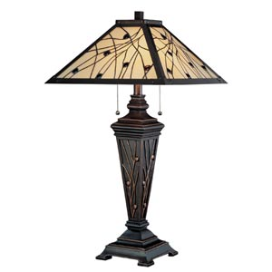Remus Dark Bronze Two-Light Table Lamp