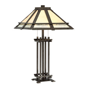 Hyden Dark Bronze Two-Light Table Lamp