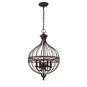 Winterlynn Antique Bronze Four-Light Pendant