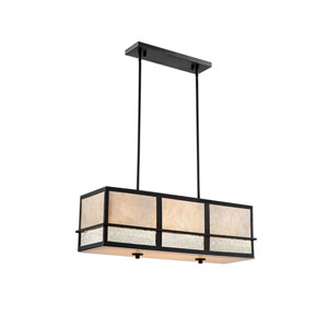 Hyden Dark Bronze Four-Light Pendant
