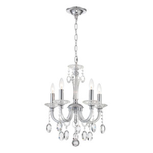 Theophilia Chrome Five-Light Chandelier