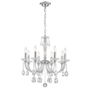 Theophilia Chrome Eight-Light Chandelier