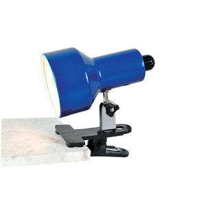 Clip-On II Blue Clamp-On Lamp