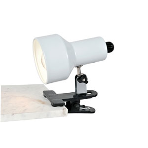 Clip-On II White Clamp-On Lamp