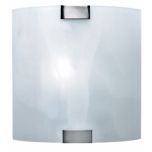 Nimbus Polished Steel One-Light Wall Sconce with Cloud Glass Shade