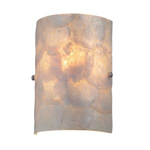 Shelley Polished Steel Wall Sconce