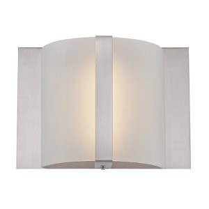 Waldo Polished Steel LED Wall Sconce
