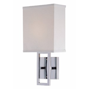 Prisca Chrome One-Light Wall Sconce
