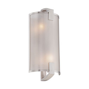 Gilmore Polished Steel Two-Light Wall Sconce