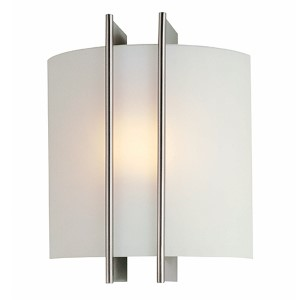 Checks Polished Steel 8-Inch Wide One-Light Wall Sconce