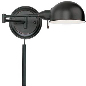 Rizzo Aged Copper One-Light Swing-Arm Wall Lamp