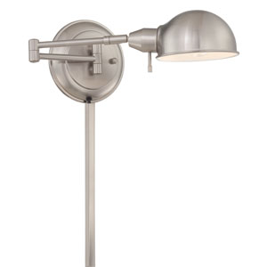 Rizzo Polished Steel One-Light Swing-Arm Wall Lamp