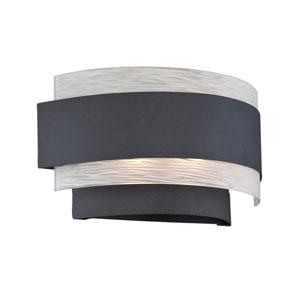 Gaetano Black Two-Light Wall Sconce