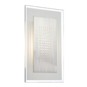Flynn Polished Steel Rectangle LED Wall Sconce