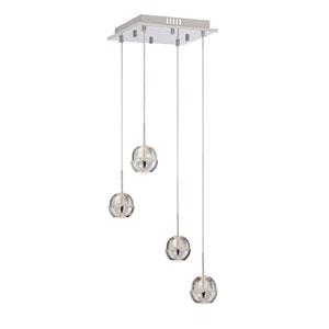 Draplin LED Chrome Four-Light Mini Pendant
