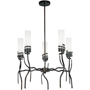 Espiral Dark Bronze Five-Light Chandelier