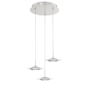 Fruma LED Chrome Three-Light Mini Pendant