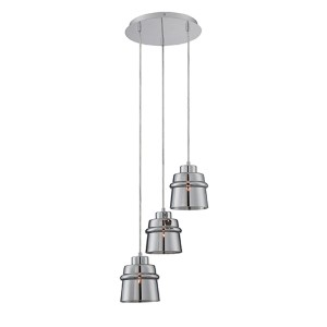 Sparta Chrome Three-Light Cluster Pendant