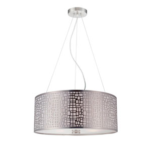 Torre Polished Steel Three-Light Pendant