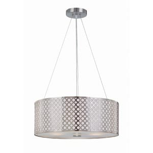 Netto Polished Steel Drum Pendant