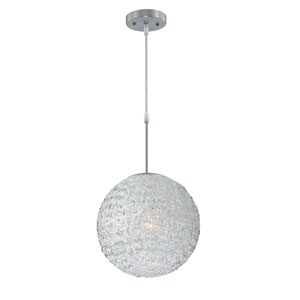 Icy Polished Steel One-Light Pendant