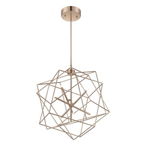 Stacia LED French Gold Seven-Light Pendant