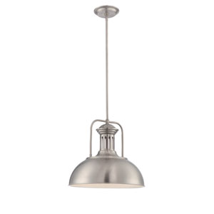 Efren Polished Steel One-Light Pendant