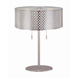 Netto Polished Steel Table Lamp